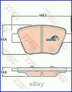 Set Plaquettes et Disques Arrière TRW Audi A3 2.0 Tdi 140CV 103KW N° Pr 1KS