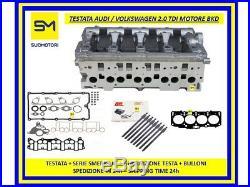 Tête Audi Volkswagen 2.0 Tdi 16V Moteur Bkd Blb Bsy +Garnitures+Boulons