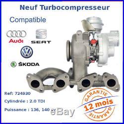Turbo Turbocompresseur Neuf pour VW TOURAN 2.0 TDI 136 03G253010JX, 03G253010J